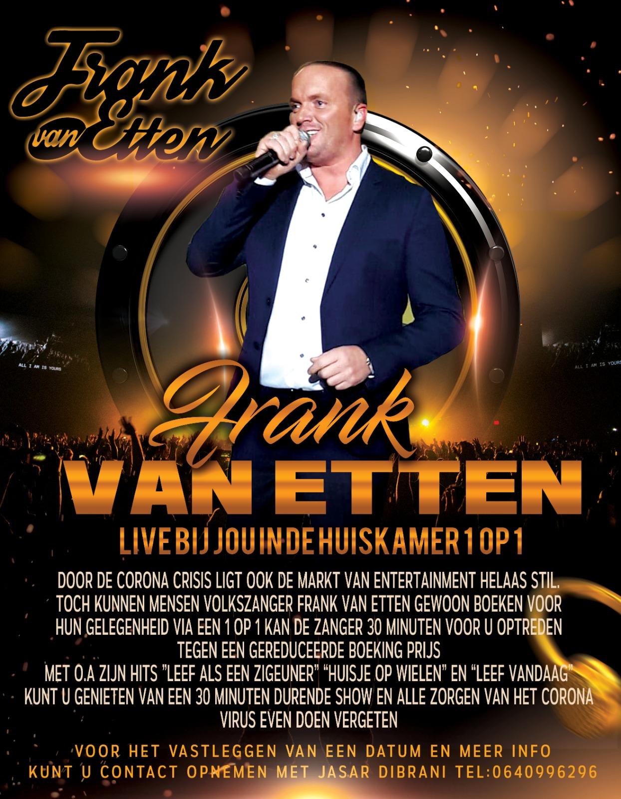 Flyer Frank Huiskamer concert